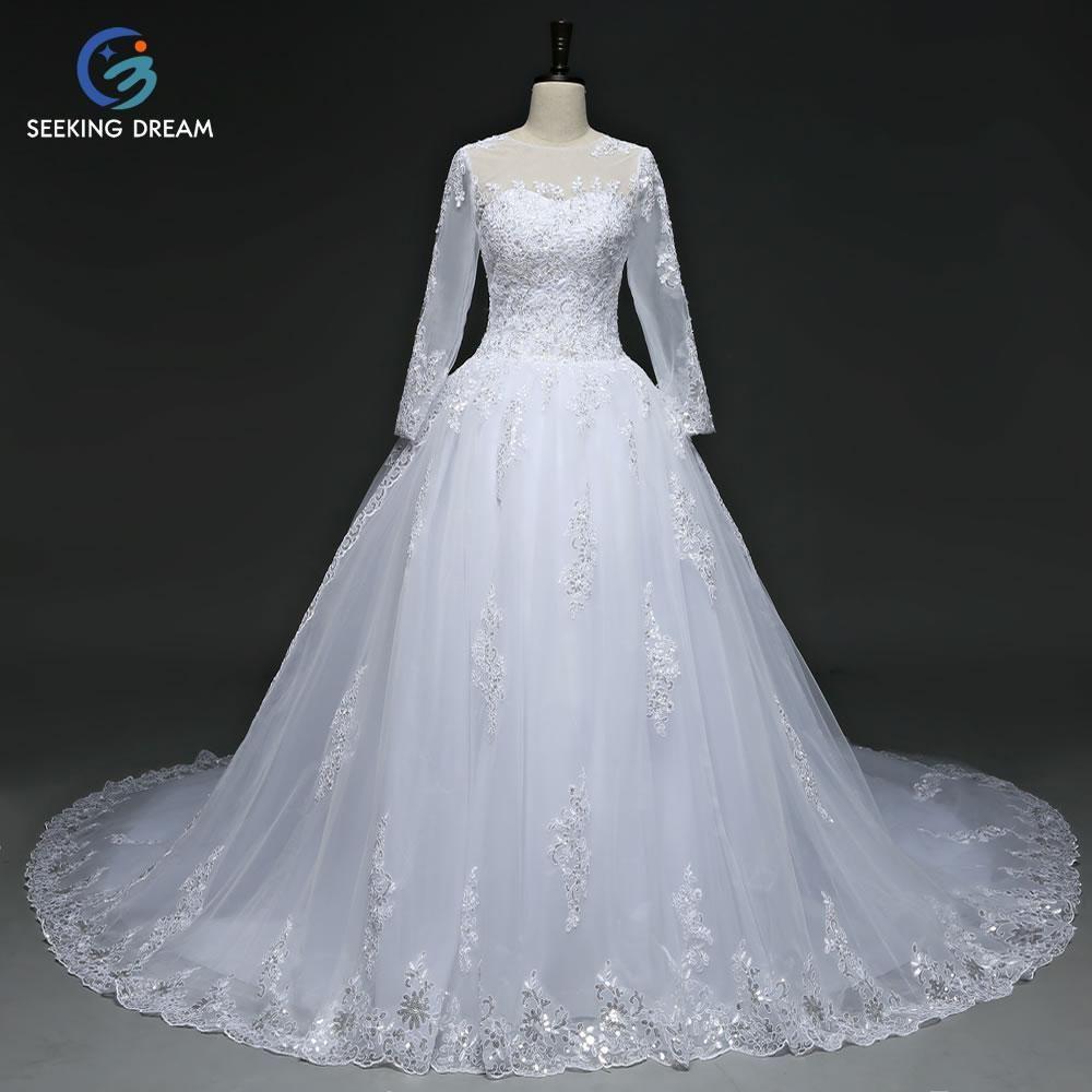 fashion white dress high v neck long sleeves muslim turkey