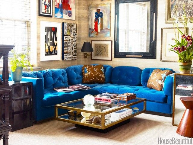 Reupholstering Vintage Finds In Electric Blue Velvet Upholstery Is A Design  Scenario That Simply Canu0027