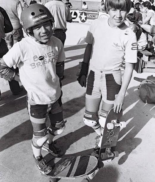 Steve Caballero and Rodney Mullen.