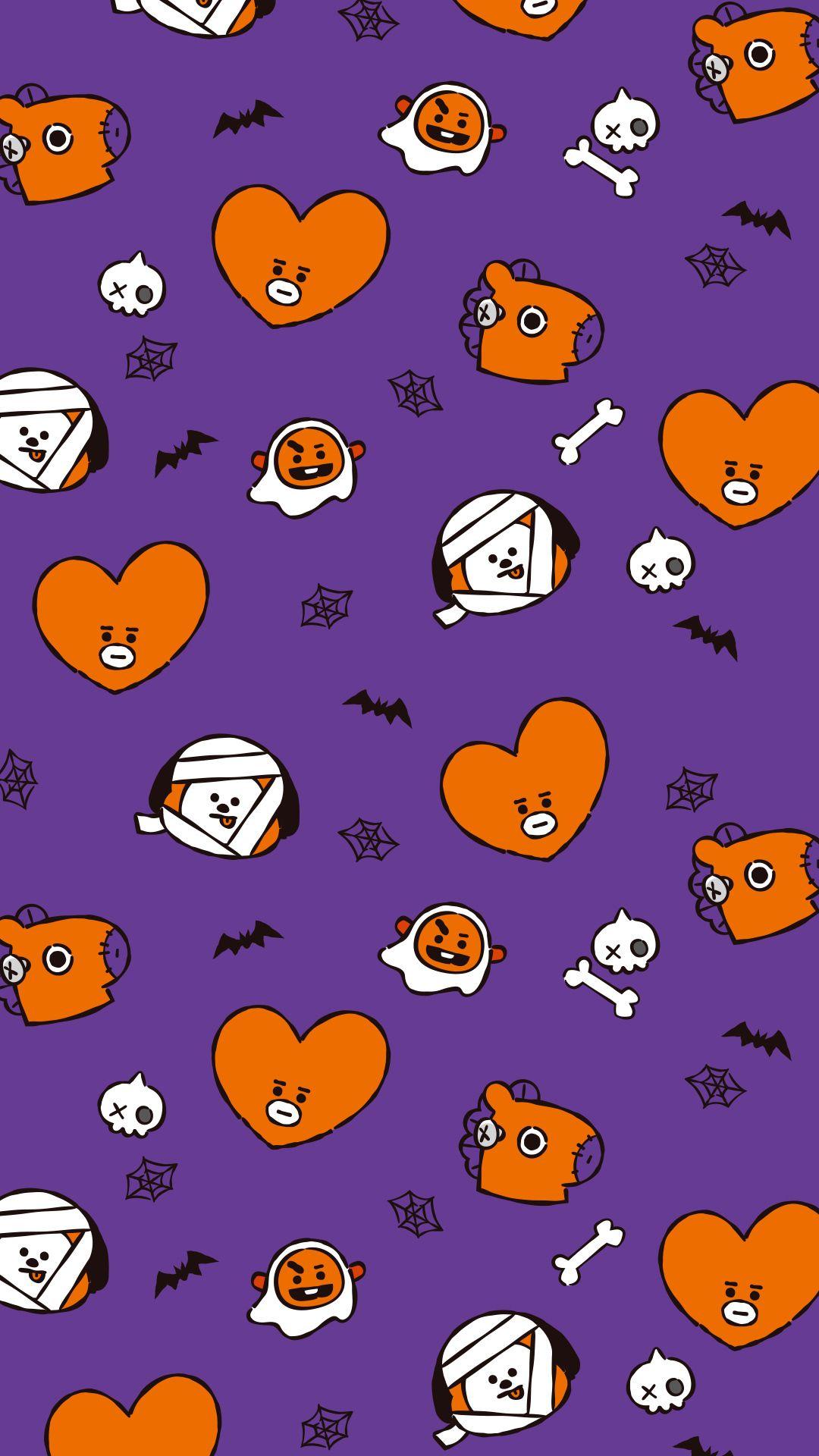 Spooky Halloween Bts Halloween Halloween Wallpaper Line Friends