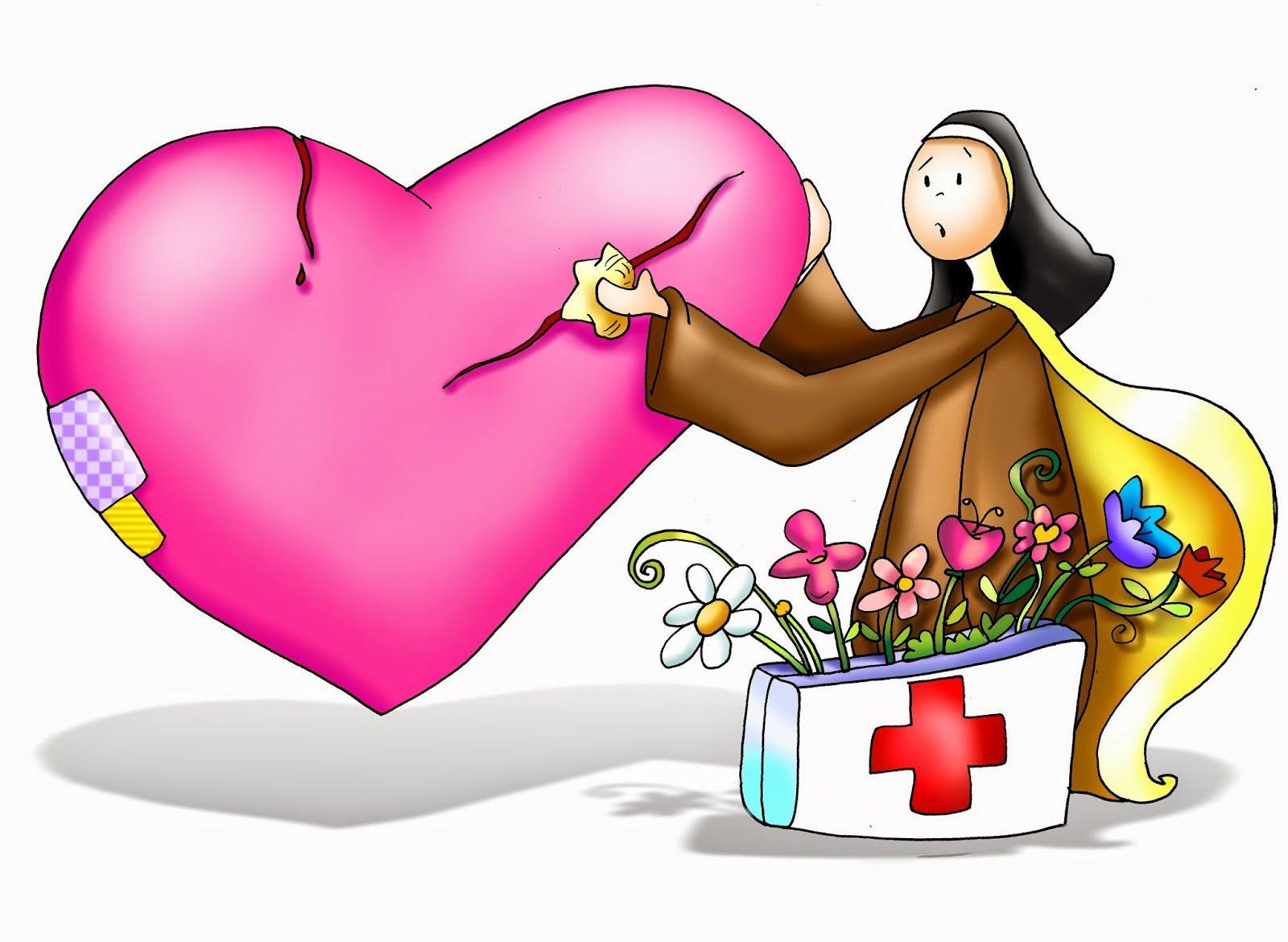 Santa Teresa, arreglando el corazón roto   Fano   Pinterest   Santa ...