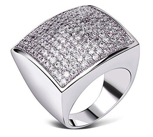 Fancy Asscher-Cut Silver Baguette Engagement Ring