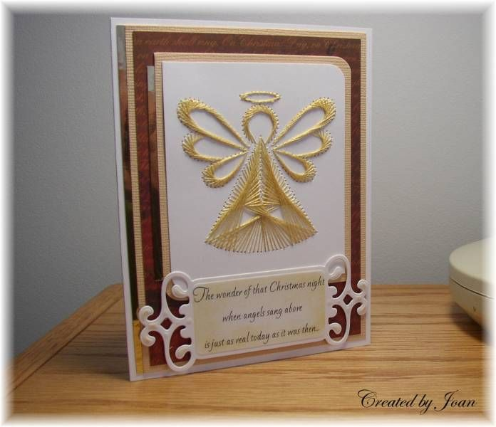 Christmas angel by Joanlab at Splitcoaststampers beautiful #spirelli for the more advanced  visit me at My Personal blog: http://stampingwithbibiana.blogspot.com/
