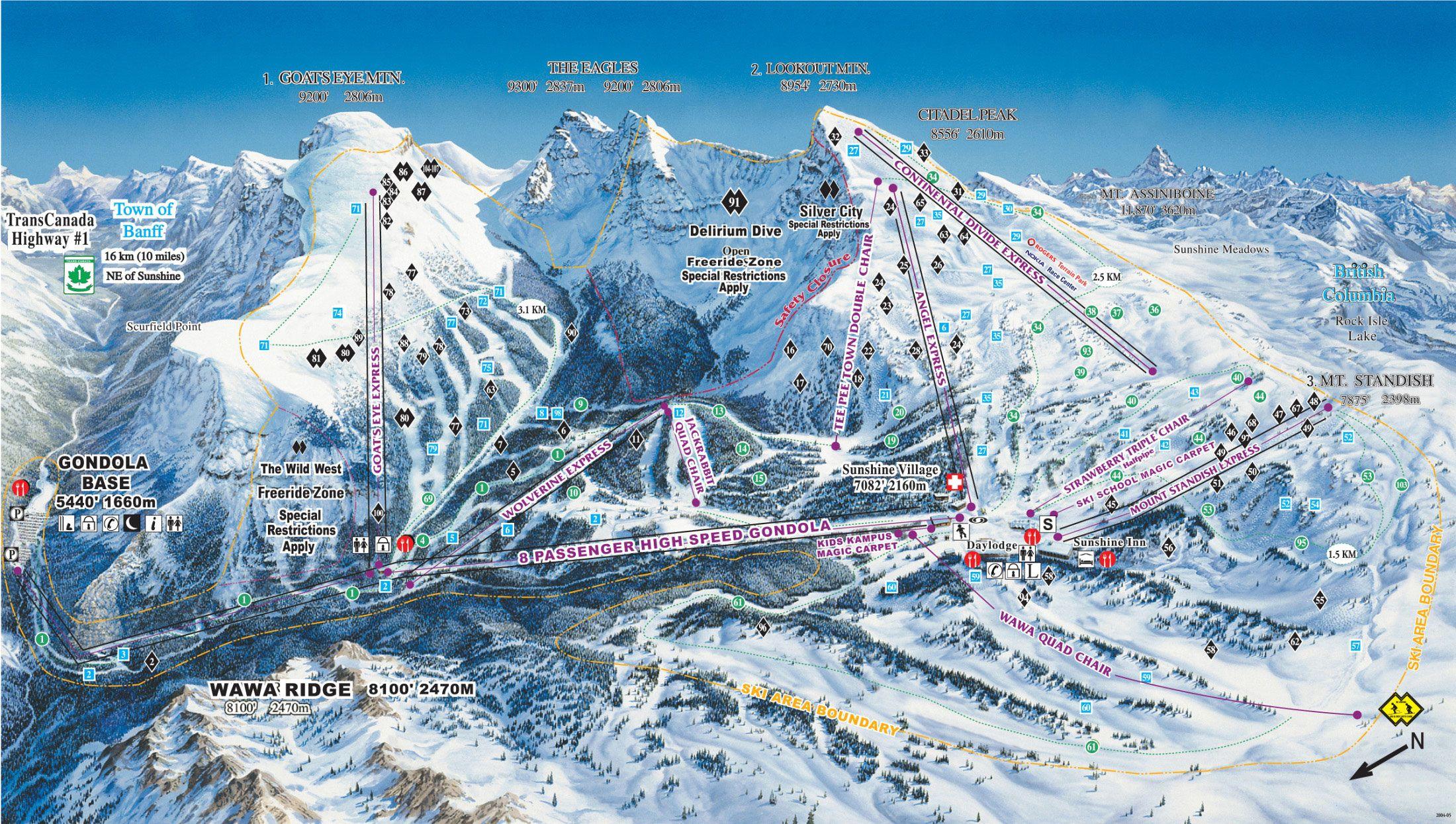 Mount Sandish published in 2012 at Sunshine Village  pINS