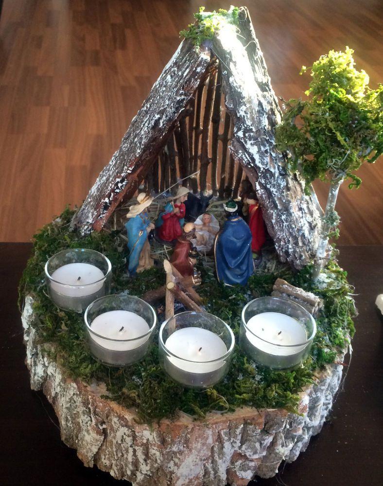 Weiteres adventsgesteck adventskrippe weihnachtsgesteck for Tischdekoration weihnachten dekoration