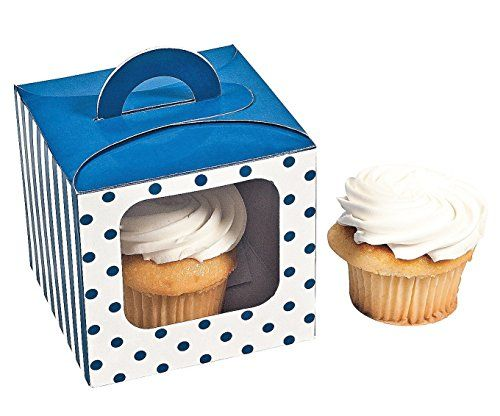 Blue Polka Dot Cupcake Boxes 12 pc ** This is an Amazon Affiliate link. Find out more about the great product at the image link.