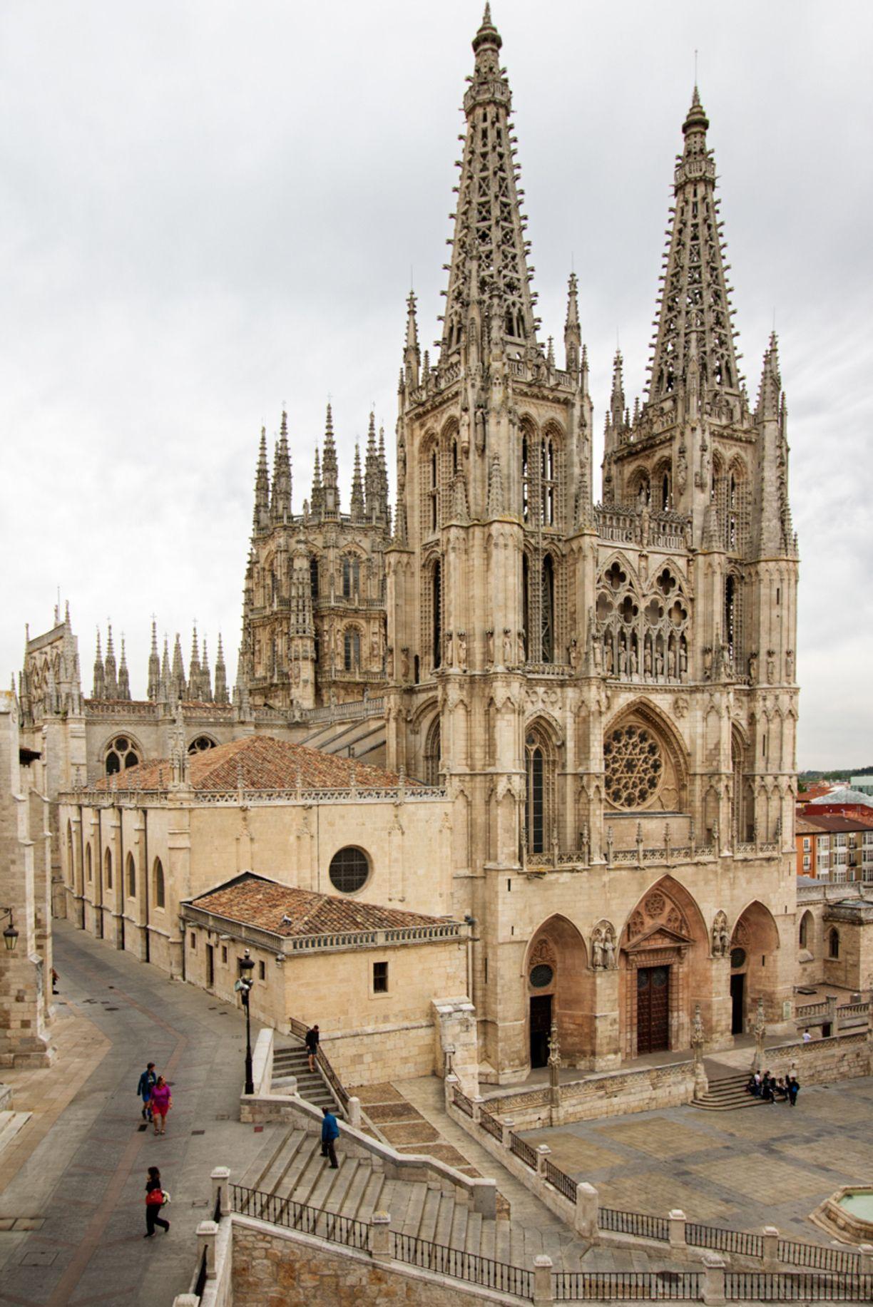Bouwkunst Kathedraal Burgos Spanje Gotisch 1222 1568 Burgos Kathedrale Gotisch