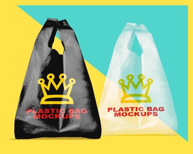 Download Free Download Plastic Bag Mock Ups On Vectogravic Com Bag Mockup Plastic Bag Bags