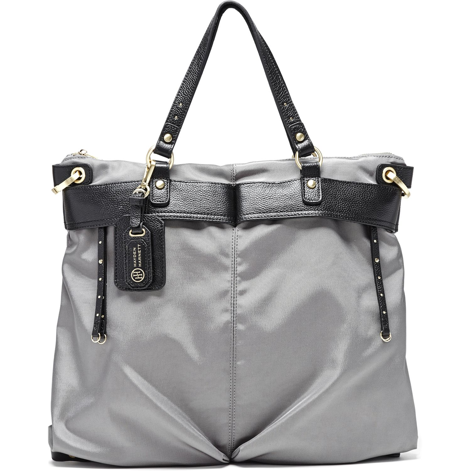 Ibiza Flight Tote, Silvered Grey - Hayden-Harnett Handbags & Accessories Online Store