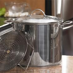 Princess House 20 Quart Stainless Steel Stockpot With Lid And