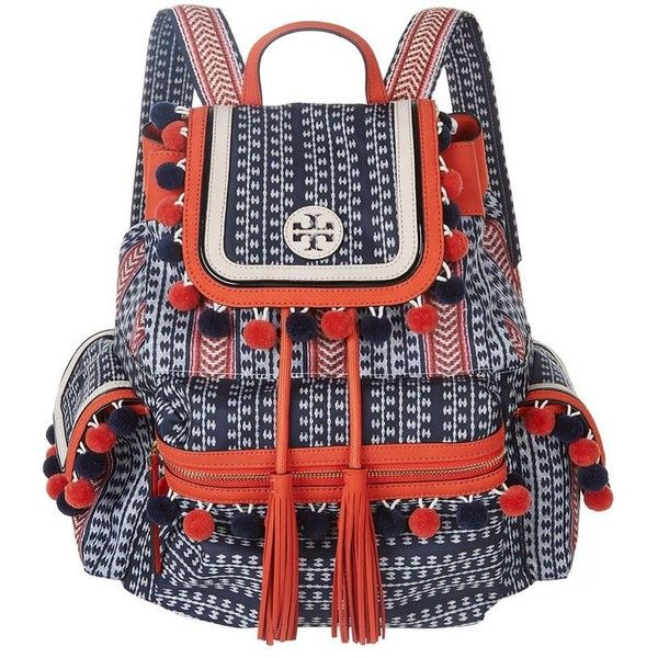 2fe7ec8a93c Tory Burch Scout Pom-Pom Backpack ( 410) ❤ liked on Polyvore featuring  bags