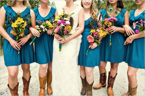 Western Style Bridesmaid Dresses