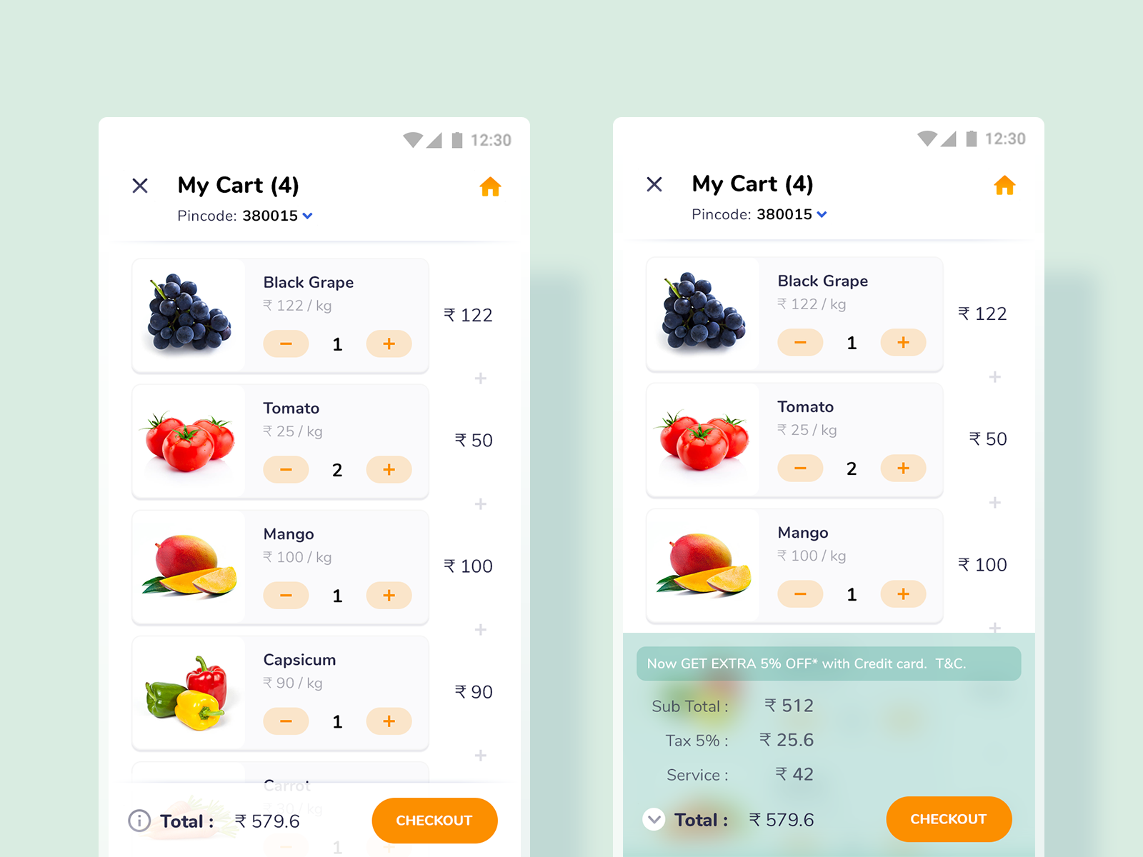 Dribbble by JD Groceries