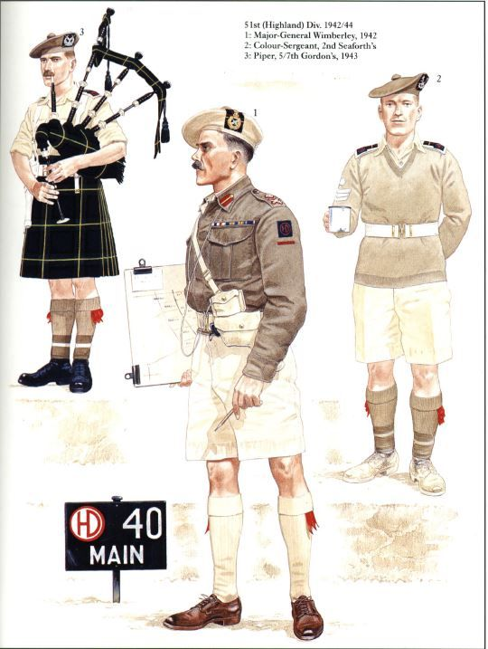 BRITISH ARMY - 5st Highlander Division -
