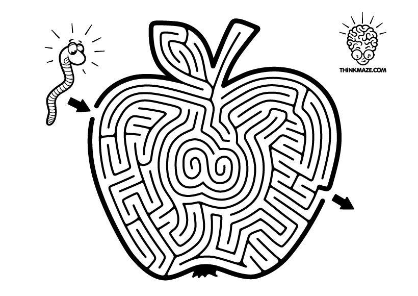 Apple Maze -ThinkMaze.com