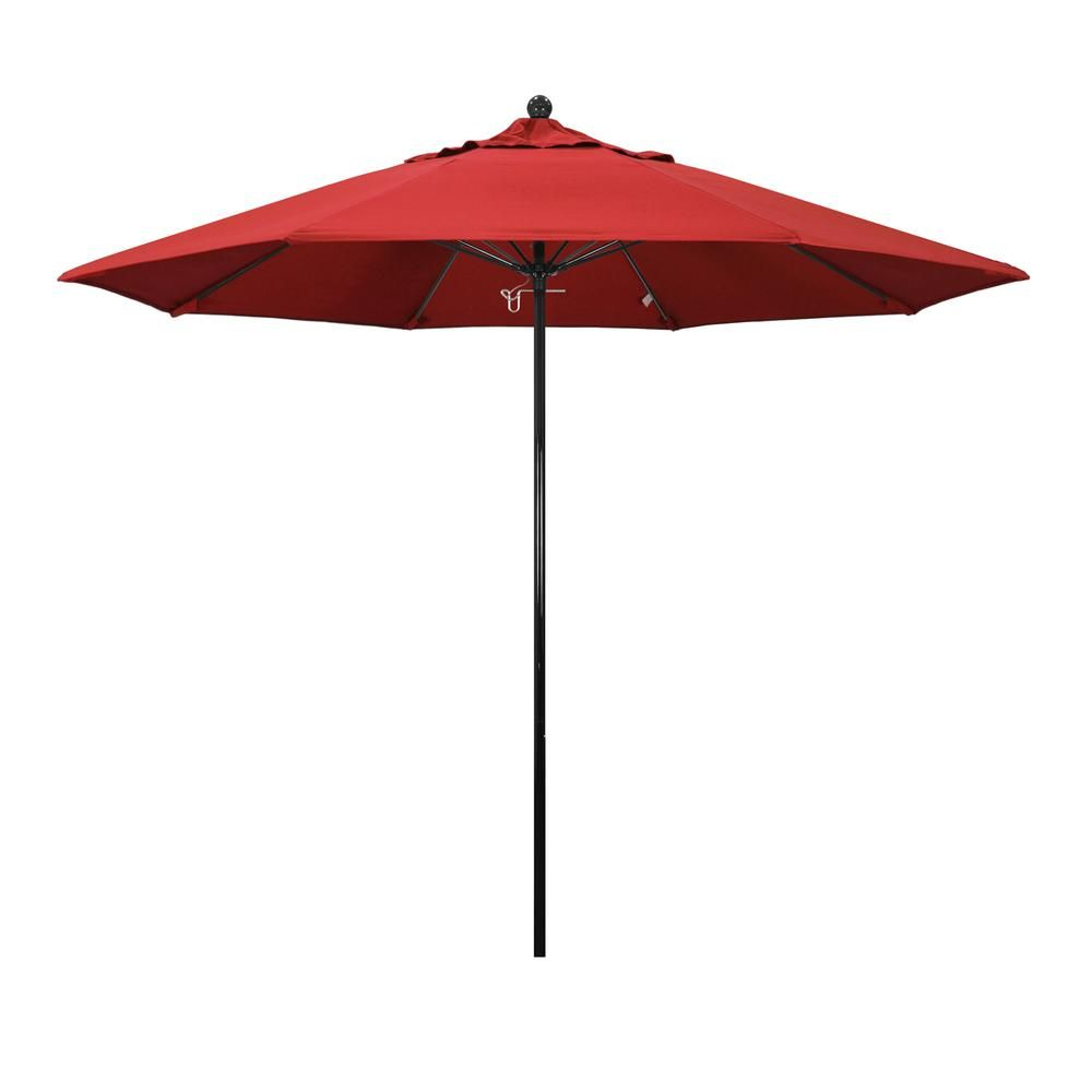 California Umbrella 9 Ft Fiberglass Push Lift Market Patio