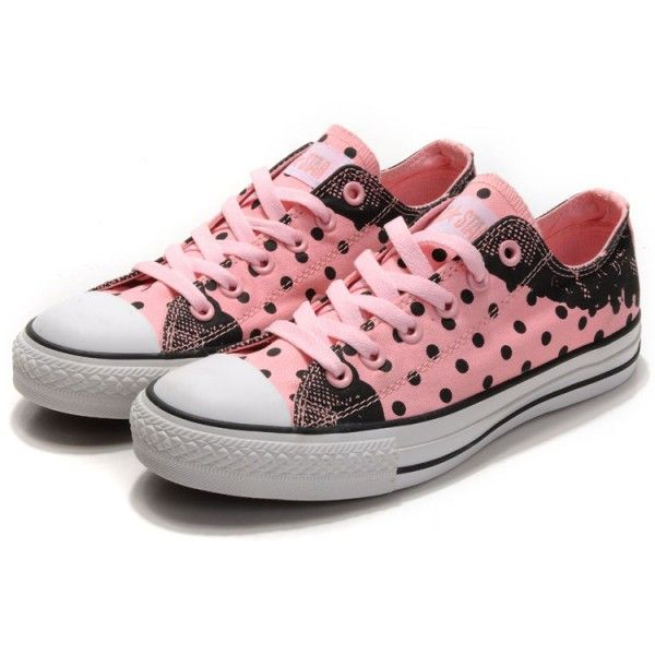 Pink Sandals for Women | Converse Women Canvas Shoes Pink Polka Dot Lace