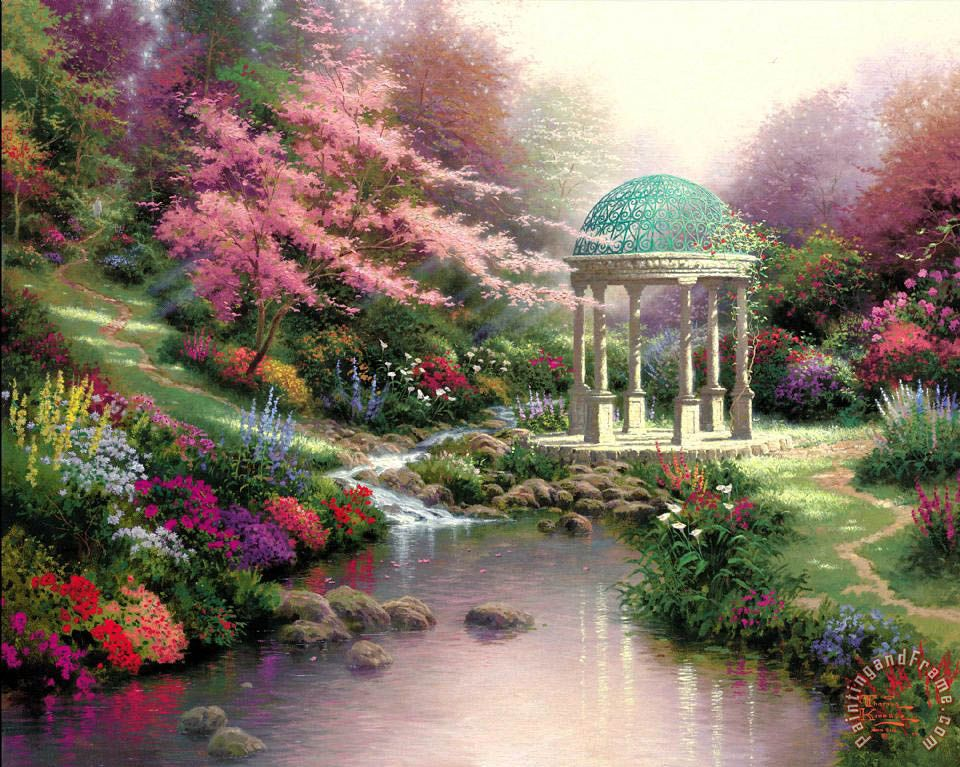 Pools of Serenity Painting by Thomas Kinkade