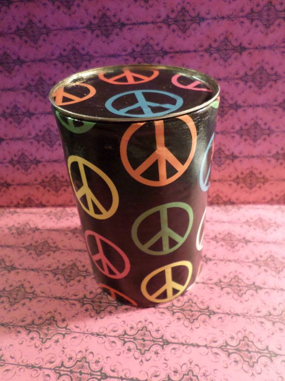 Hand painted hidey hoe can upcrafted tin can by junkNdisorderly13, $7.00