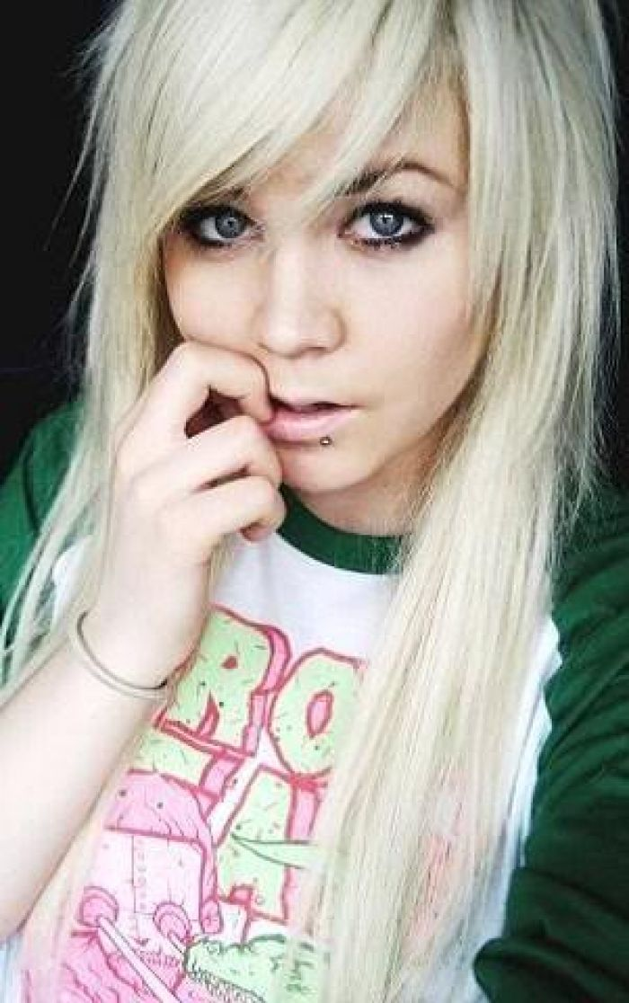 Blonde Emo Hairstyles Blonde Emo Hair Cut Scene Hairstyle For Girls Style Online Design