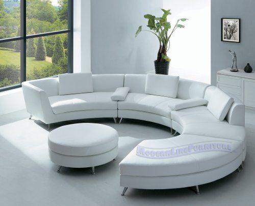Modern Round Sofa Interior Ruang Keluarga Mewah Desain Ruang