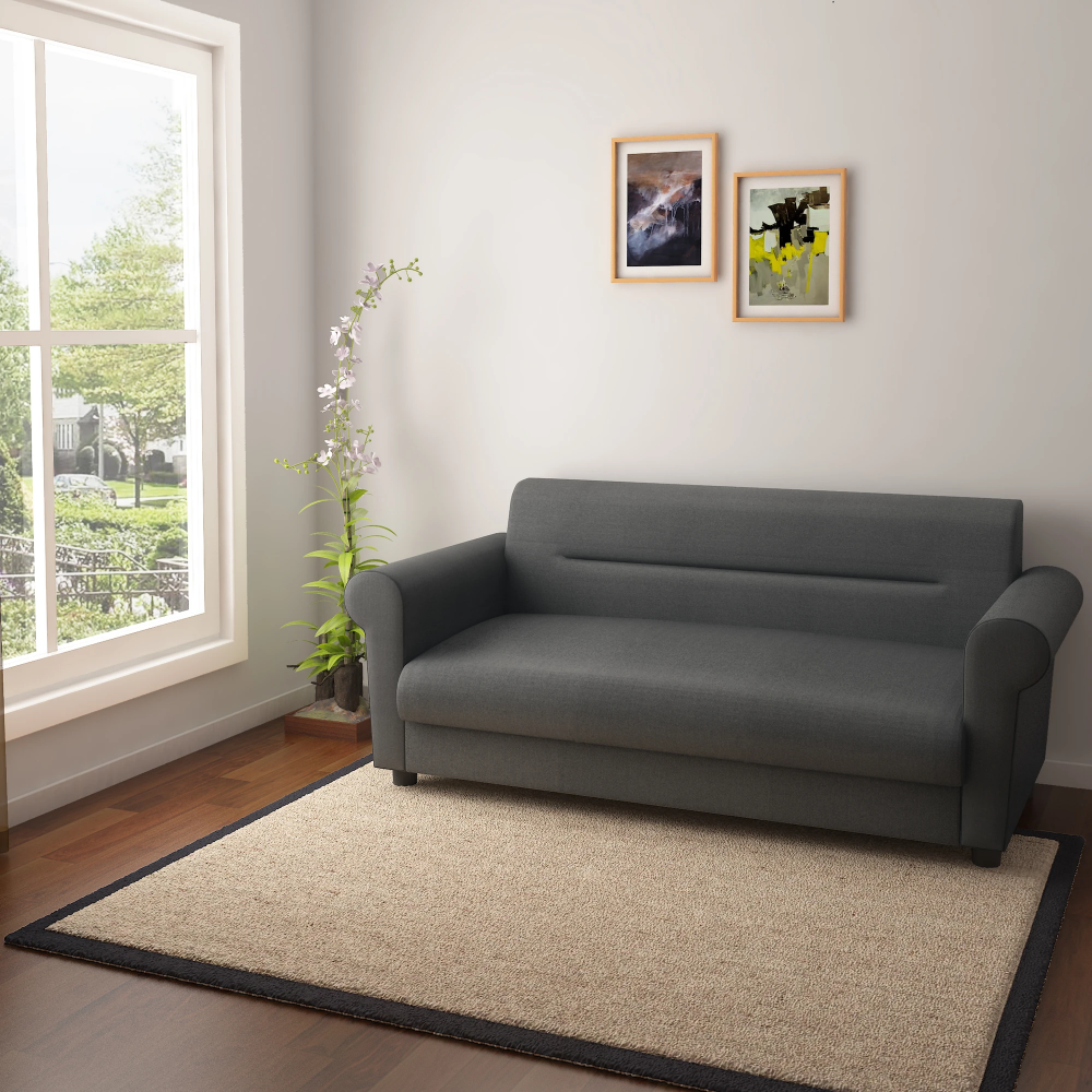 Pashe Three Seater Sofa Grey Your Wishlist Has Been Temporarily Saved Please Log In To Save It Permanently Three Seater Sofa Gray Sofa Sofa