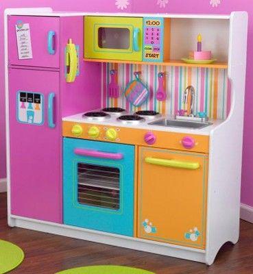 Kidkraft Big Bright Kids Pretend Play Kitchen Toy Set One Day