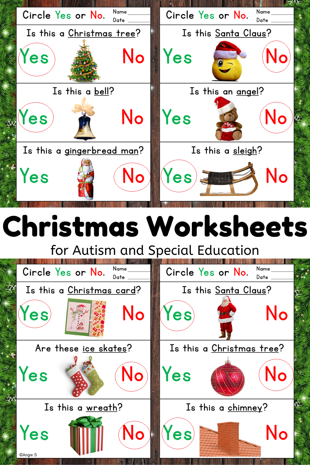 Yes No Questions Christmas Worksheets Special Education Resources Special Education Behavior Special Education Autism [ 1500 x 1000 Pixel ]