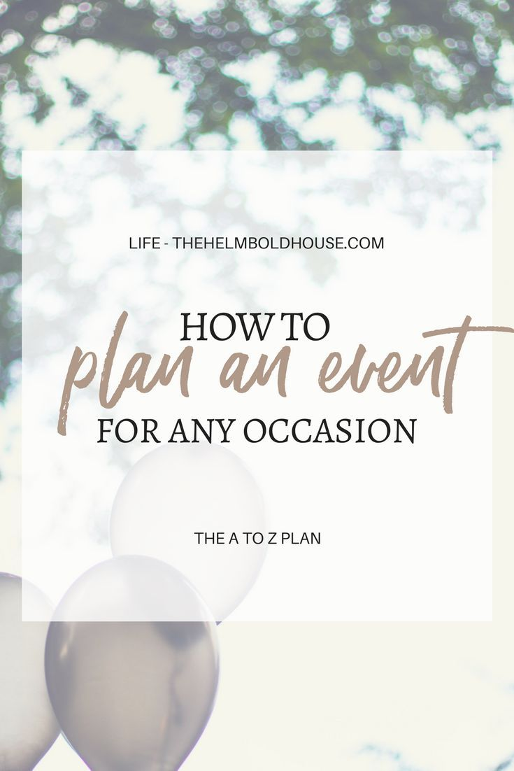 How To Plan Any Event - The Helmbold House
