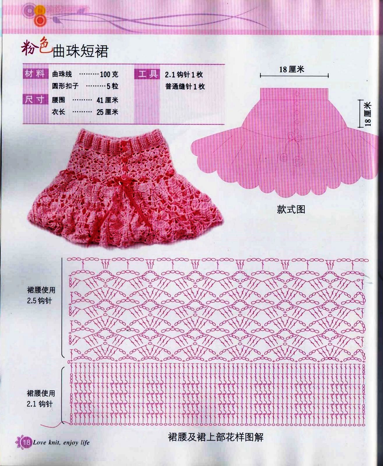 Graphics and Crochet: skirt for girls | Crochet:vestidos niñas ...