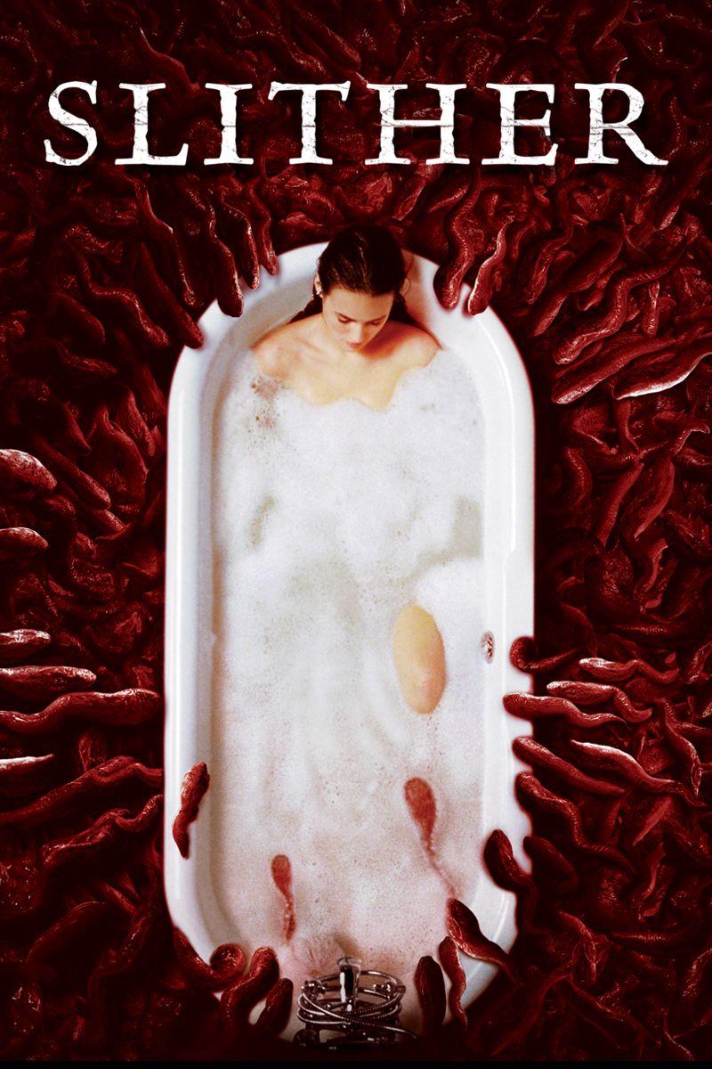 Slither (2006) Movie Poster - Nathan Fillion, Elizabeth Banks, Gregg Henry # Slither, #2006, #NathanFillion, #ElizabethBanks, #G…   Filmes de terror, Filmes, Terror