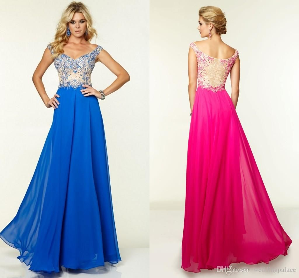 2015 Newest Hot Sale Cap Sleeve Beaded A-line Royal Blue Chiffon Floor-length Custom Made Long Evening Prom Dresses from Weddingpalace,$87.96 | DHgate.com