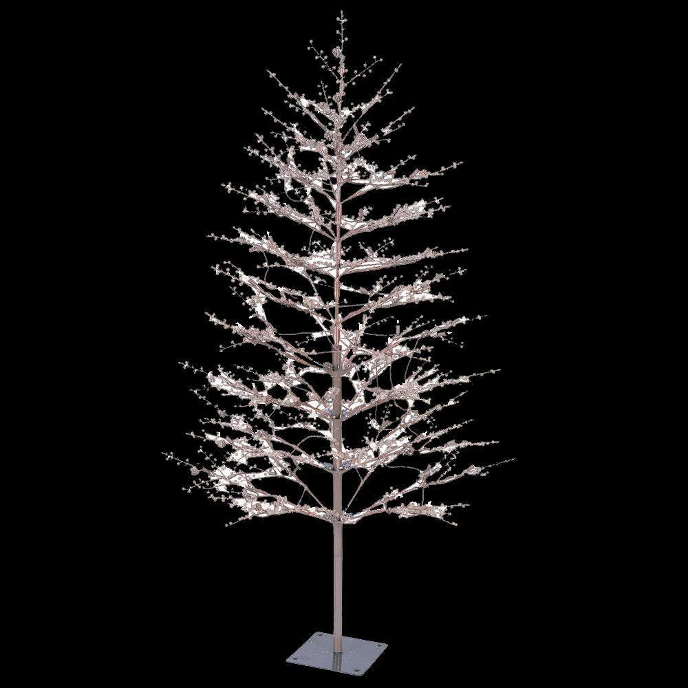 Ge 5 Ft Brown Winter Berry Branch Tree With C4 Color Choice Led Lights 23503hd The Home Metal Christmas Tree Outdoor Christmas Decorations Outdoor Christmas
