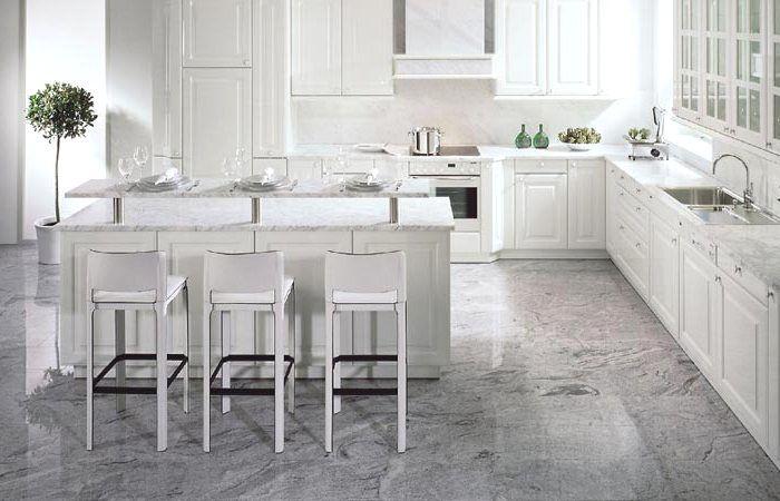 Viscont #White #Granit #Arbeitsplatten mit passendem Boden - was für ...