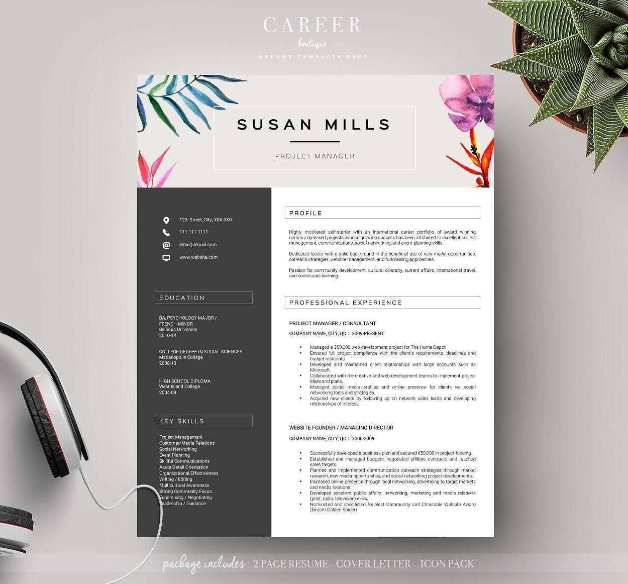 modern resume coverletter template resumes business modern resume coverletter template resumes 1