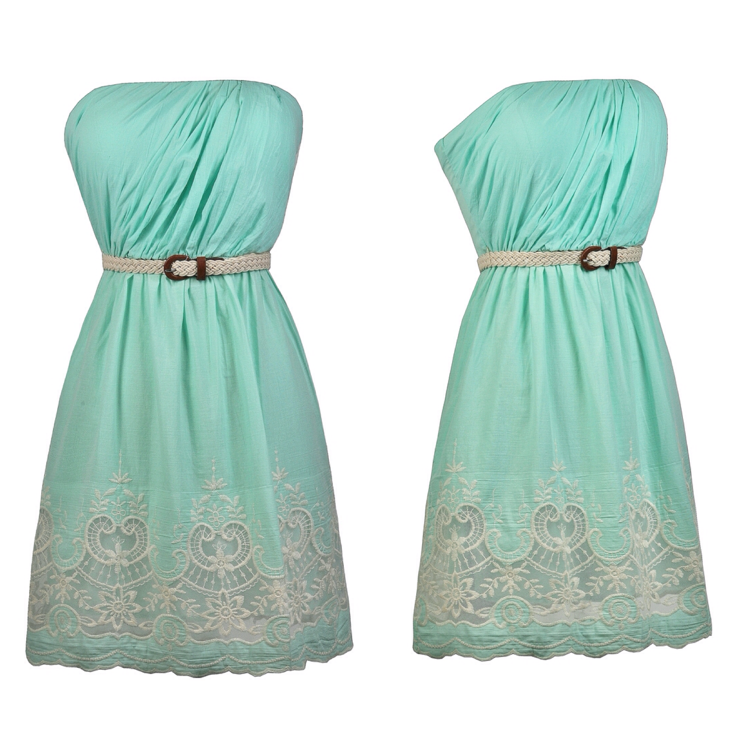 This belted and embroidered dress is perfect to pack on vacation ...