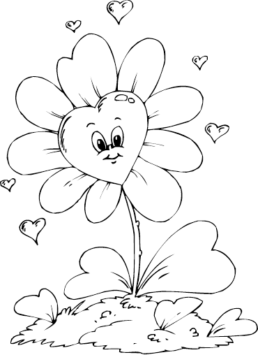 Heart Flower Heart Coloring Pages Animal Coloring Pages Coloring Pages