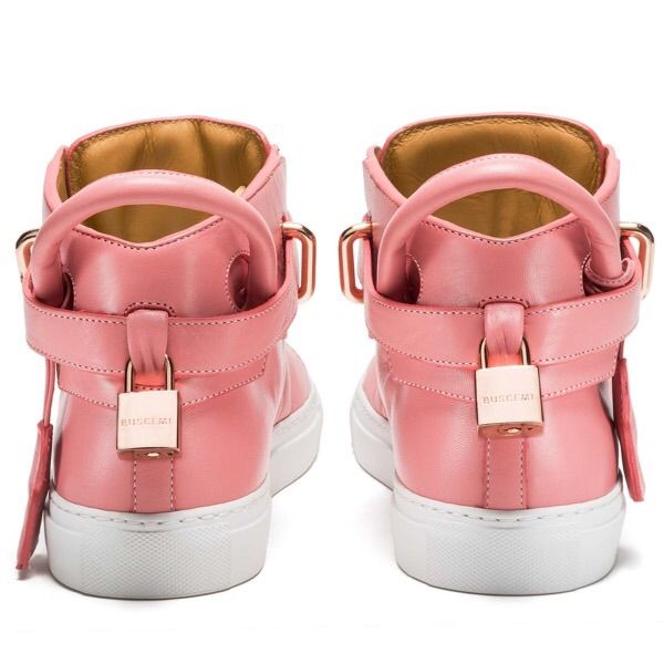 50 cent buscemi pink 100mm rose gold plated lock high top