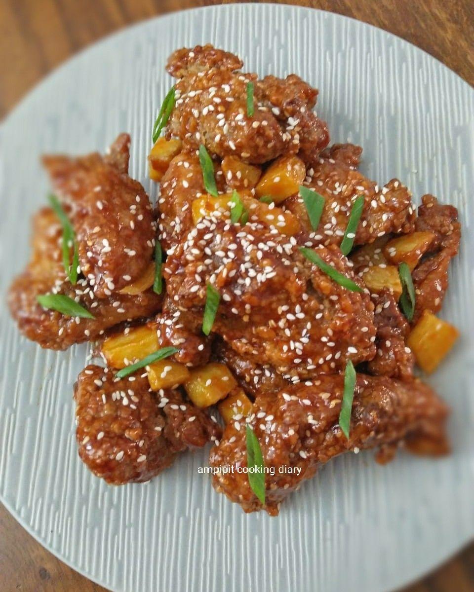Dak Gangjeong Aka Chicken Gangjeong Resep Ayam Resep Makanan Cemilan