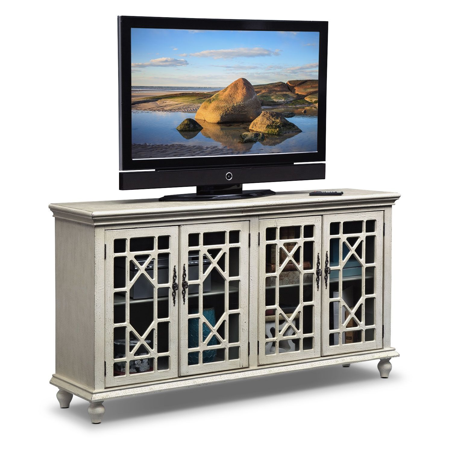 High Quality Accent And Occasional Furniture   Grenoble Media Credenza   Ivory, Value  City Furniture