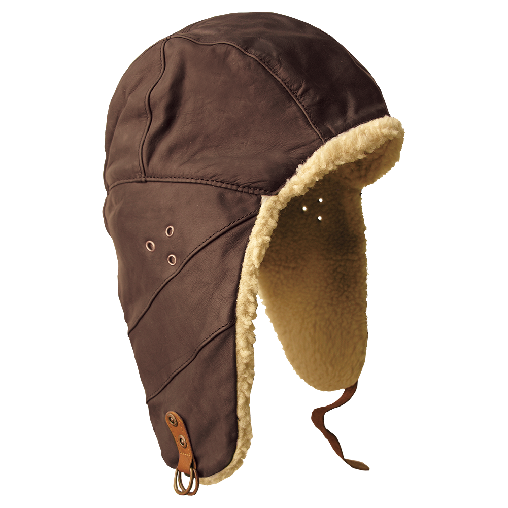 Flying Doctor S Hat In Brown Aviator Cap Aviator Leather Hat Mens Leather Hats