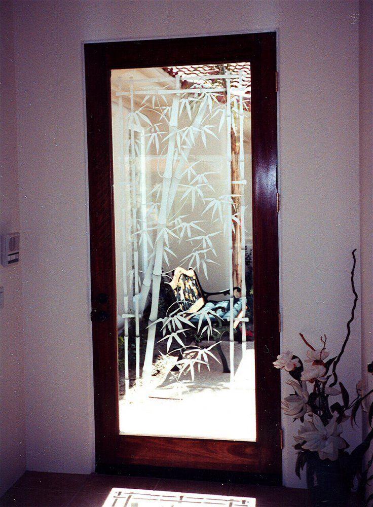 Mirror glass etching design