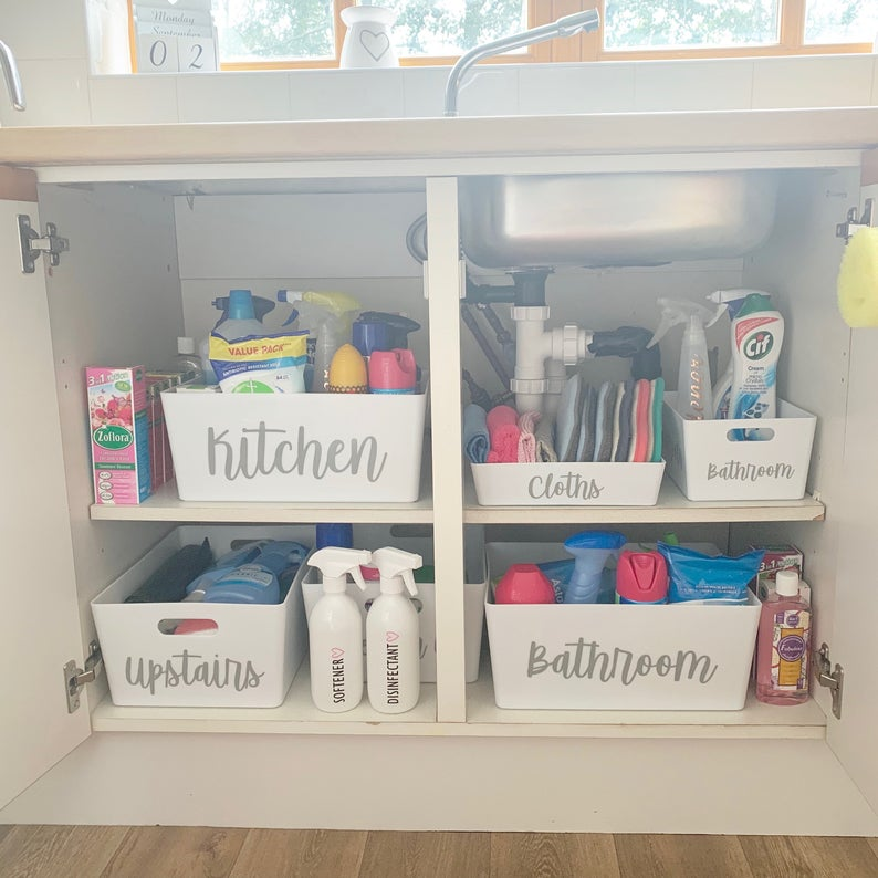 Mrs Hinch Home Decor In 2020 Cleaning Cupboard Home Storage Organization Cupboard Storage