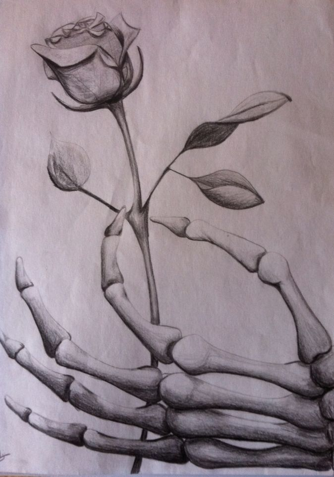 Image Result For Grim Reaper Hand Holding Rose Drawing