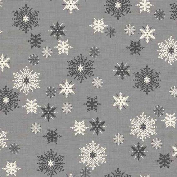 Scandi Snowflakes Christmas Holiday Winter Snow Grey