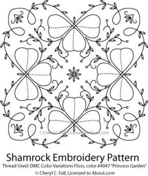 4 Free Kawaii St. Patrick's Day Embroidery Patterns