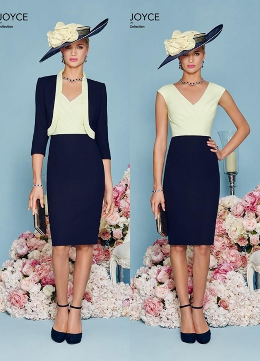 Simple Navy Two Toned Short Knee Length Mother Of The Bride Dresses ...