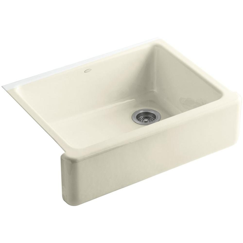 Whitehaven Undermount Farmhouse Apron Front Cast Iron 30 In Single Bowl Kitchen Sink In Cane Sugar Cast Iron Farmhouse Sink Cast Iron Kitchen Sinks Sink