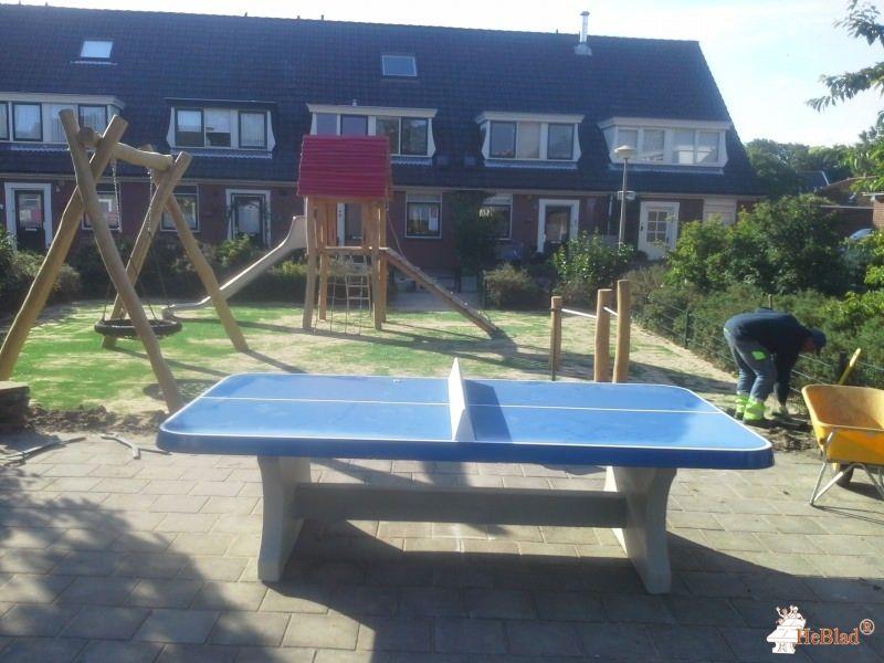 Pingpongtafel Afgerond Blauw bij Gemeente Noordwijk in Noordwijk