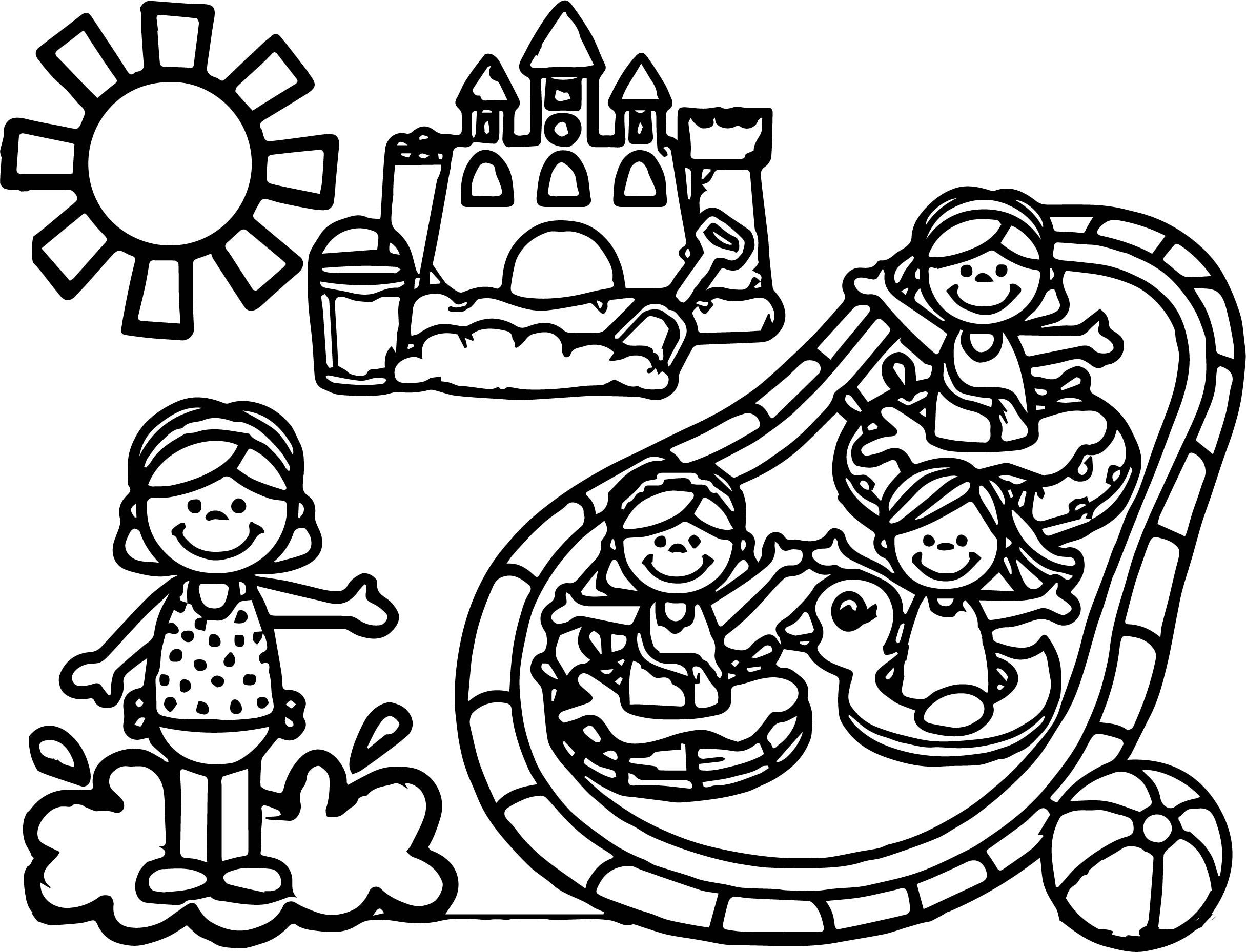 Awesome Summer Games Coloring Page